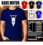 Harga Kaos Motor Distro Baju T Shirt Otomotif Yamaha Nmax Siluet Tampak Depan Branded