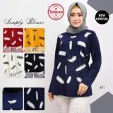 Jual Kaos Muslim Baju Muslim Pakaian Muslim Wanita Motif Bulu Angsa All Size Murah