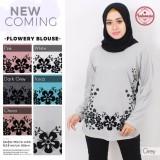 Promo Kaos Muslim Baju Muslim Pakaian Muslim Wanita Motif Flowery Blouse All Size Dki Jakarta