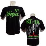 Spesifikasi Kaos Ninja Bikers Kawasaki Motor Kn003 Bonus Stiker Merch Cadel