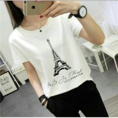 Toko Kaos Oblong Polos Wanita Eiffell Woman Tee White Kaos Tipis Kasual Jalan Paris Gl Putih Murah Indonesia