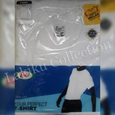 Kaos Oblong Pria Rider Putih Round / Crew Neck R223b - 1Hlesk