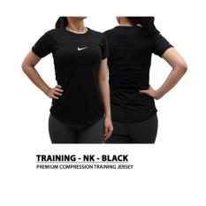 Tips Beli Kaos Olahraga Wanita Ketat Yoga Lari Training Gym Black