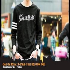 Jual Beli Online Kaos One Ok Rock Special 3 Strip T Shirt Kj Oor 08