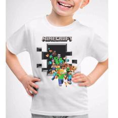 Daftar Harga Kaos Pandir Kaos Anak Baju Minecraft Ajs228 Putih Kaos Pandir