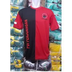 Kaos Partai Merah cabe kombinasi hitam PE double kenitt All Size