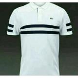 Harga Kaos Polo Kaos Kerah Polo Shirt Lakoste Putih Baru Murah