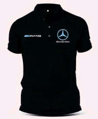 Kaos Polo Mercedes Benz Amg Blue Logo