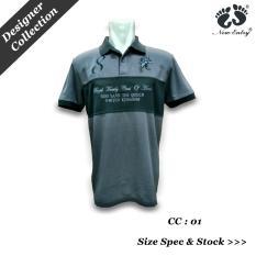 Kaos Polo Pria Katun TC Branded T-Shirt, Cut & Sow with Bordir