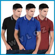 Kaos Polo Shirt Black Lacos Trendy Copy Sun / Eceran / Grosir - 6A966C
