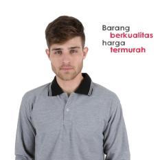 Kaos Polo Shirt Panjang Abu Lacos Trendy Termurah Eceran Grosir - Ifcljc