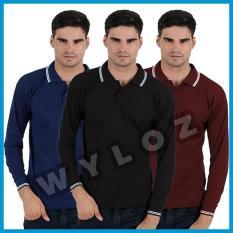 Kaos Polo Shirt Panjang Lacos Trendy Copy Sun Murah Eceran Grosir - Va9ha8