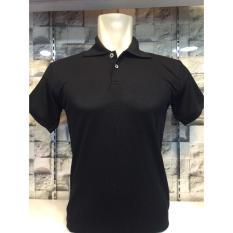 TBK fashion - Kaos Berkerah Polo Shirt Polos M L XL Lengan Pendek Atasan Pria Cowo Lacos Fashion Simple Keren Formal Casual Bagus Murah Elegant - Hitam