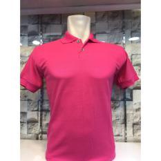 TBK fashion - Kaos Berkerah Polo Shirt Polos M L XL Lengan Pendek Atasan Pria Cowo Lacos Fashion Simple Keren Formal Casual Bagus Murah Elegant - Pink Fanta