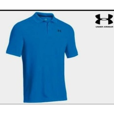 Kaos Polo Shirt-Polo Tshirt Under Armour Biru