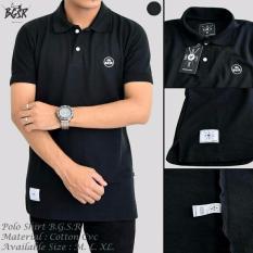 Toko Kaos Polo Shirt Pria Hitam Blues Clothing