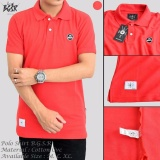 Diskon Kaos Polo Shirt Pria Merah Blues Clothing