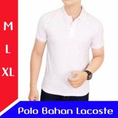 Kaos Polo Shirt Putih Distro - Kaos Kerah Pria - Corner Distro
