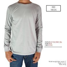 Kaos Polos Abu Muda - Lengan Panjang Combed 30s - Naga Clothing