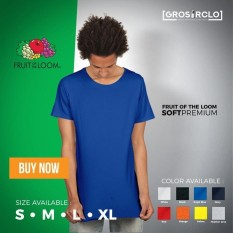 Kaos Polos Fruit Of The Loom Soft Premium Murah Original Jakarta - B3C6D9