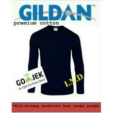 Kaos Polos Gildan Lengan Panjang Navy - Cb3dc9