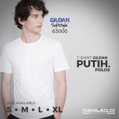 Kaos Polos Gildan Softstyle White Original Murah Jakarta