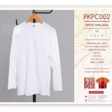 Diskon Produk Kaos Polos Hijab Lengan Panjang White Pjg 30S
