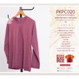 Beli Kaos Polos Hijab Maroon Misty 30S Yang Bagus
