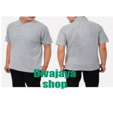 Review Kaos Polos Kerah 100 Cotton Pique Abu Abu Muda