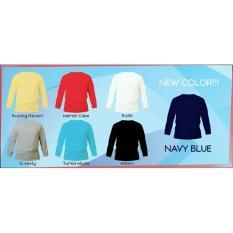 Kaos Polos Lengan Panjang 20S Cotton Combed Size S - Dc596e
