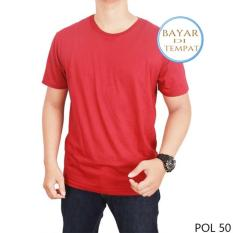 Toko Kaos Polos Oneck Cotton Combed Merah Maroon Unisex Palemo Di Jawa Barat