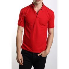 Jayasinar Kaos Polos Polo Shirt Merah Jawa Barat Diskon