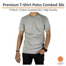 Kaos Polos Pria Premium T Shirt Polos Combed 30S Diskon Akhir Tahun