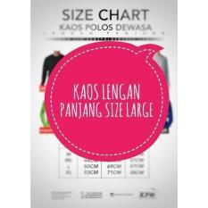 Kaos Polos Warna Lengan Panjang Size L (Large) - Ad77dc