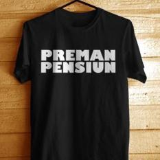 Kaos Preman Pensiun Hitam Indonesia Diskon