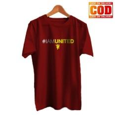 Kaos Premium KaosAjalah KAP / Baju Distro  / Tshirt Casual Pria Wanita / Fashion Atasan / Kaos Bola I Am Utd / Kaos Bola 004
