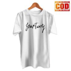 Kaos Premium KaosAjalah KAP / Baju Distro  / Tshirt Casual Pria Wanita / Fashion Atasan / Kaos Musik Fourtwenty Pyung Teduh Folk Band / Fourtwenty 002