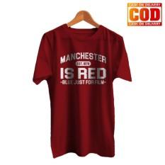 Kaos Premium KaosAjalah KAP / Baju Distro  / Tshirt Casual Pria Wanita / Fashion Atasan / Man is Red / Kaos Bola Man 001