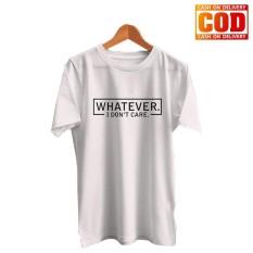 Kaos Premium KaosAjalah KAP / Baju Distro / Tshirt Casual Pria Wanita / Fashion Atasan / Tumblr Tee Whatever / T-shirt Quotes Wtatever
