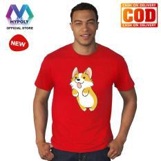 Kaos Premium Mypoly Pria Laki-Laki PL / Baju Couple Family Keluarga / Tshirt distro Anak Wanita / Fashion atasan / Kaos Pria Dewasa imlek18 corgi jump