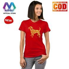 Kaos Premium Mypoly Wanita Perempuan WP / Baju Couple Family Keluarga / Tshirt distro Anak Pria Laki-Laki / Fashion Atasan / Kaos Wanita Dewasa imlek18 dog motif