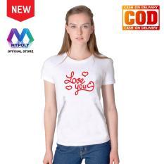 Kaos Premium Mypoly Wanita Perempuan WP / Baju Couple Family Keluarga / Tshirt distro Anak Pria Laki-Laki / Fashion Atasan / Kaos Wanita Dewasa Valentine Love You