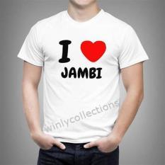 Kaos Pria I LOVE Jambi Uk Bayi - Dewasa 0 - L ( 23 Warna )