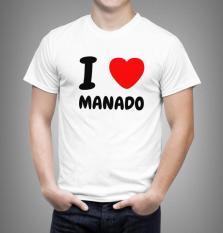 Kaos Pria I LOVE Manado Uk Bayi - Dewasa 0 - L ( 23 Warna )