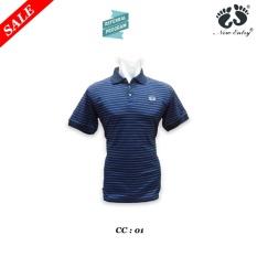 Kaos Pria Men Polo Branded Katun TC Yarn Dyed Placket Kerut