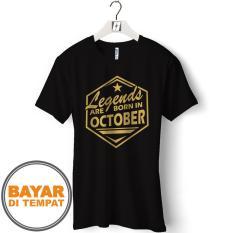 Kaos Pria T-Shirt Distro Premium Bulan Lahir Oktober - ( DualTime ID 22 )