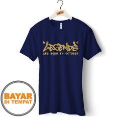 Kaos Pria T-Shirt Distro Premium Bulan Lahir Oktober - ( DualTime ID 58 )