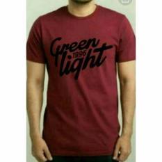 Kaos Pria Tshirt GREENLIGHT MAROON - Ukuran M