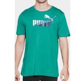 Harga Kaos Puma Fun Puma Graphic Tee 83409912 Hijau Paling Murah