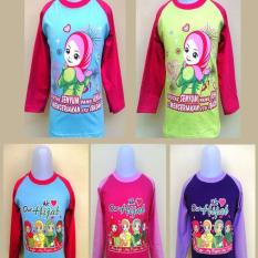 Kaos Raglan Anak Size s / Kaos raglan motif kartun islami